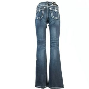 Miss me relaxed boot jeans flap pockets 27x33